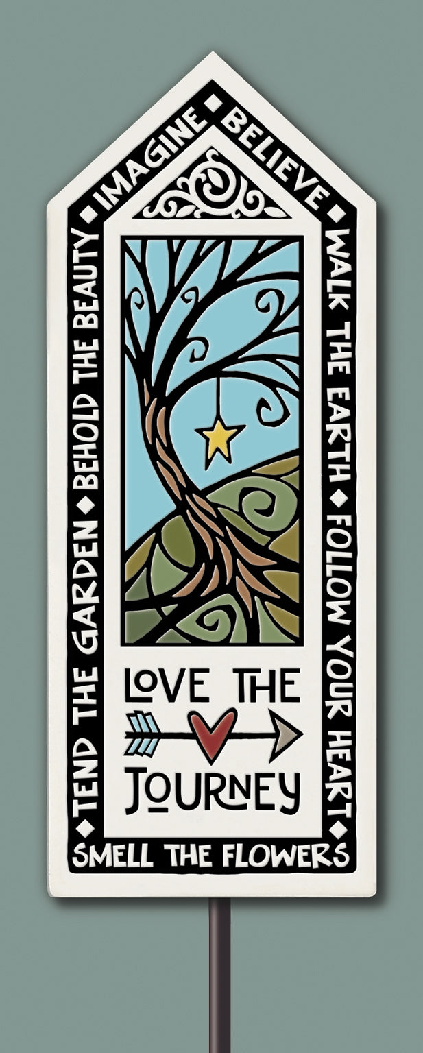 Spooner Creek Garden Tile - Love the Journey