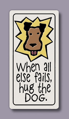 Spooner Creek Magnet - Hug the Dog