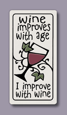 Spooner Creek Magnet - Wine Improves With Age