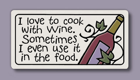 Spooner Creek Magnet - I love to Cook with Wine