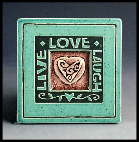Macone Clay Coaster - Live/Love/Laugh