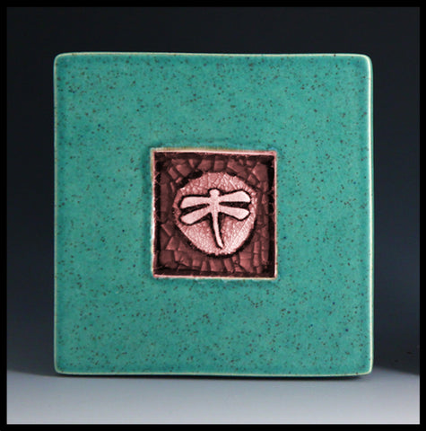 Macone Clay Coaster - Dragonfly