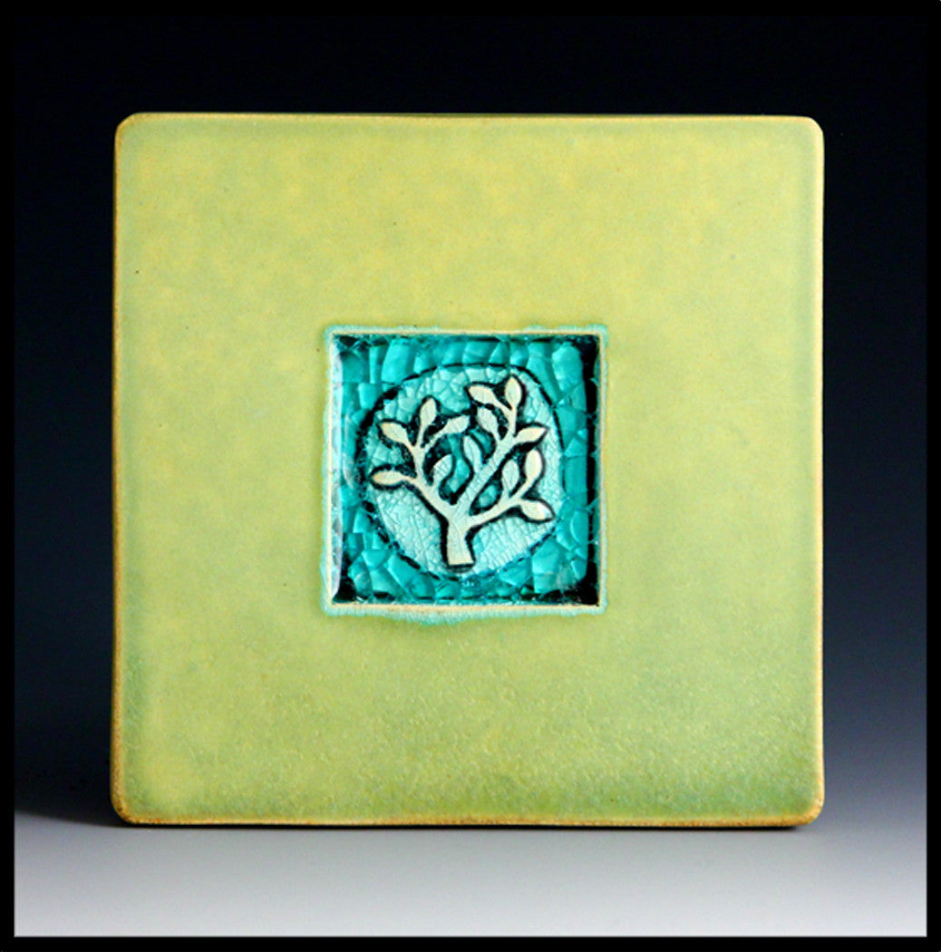 Macone Clay Coaster - Bush
