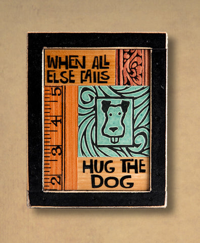 Macone Clay Collage Art - Hug the Dog