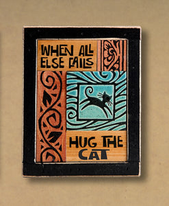 Macone Clay Collage Art - Hug the Cat