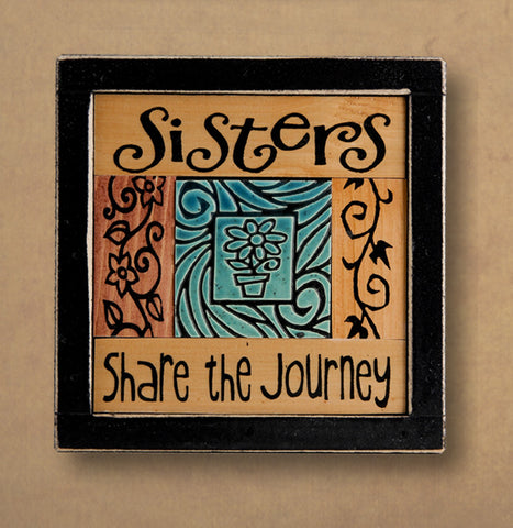 Macone Clay Collage Art - Sisters Journey