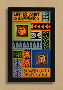 Macone Clay Collage Art - Between Coffee & Wine