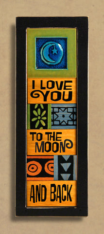 Macone Clay Collage Art - Moon and Back