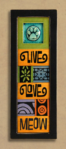 Macone Clay Collage Art - Live, Love, Meow