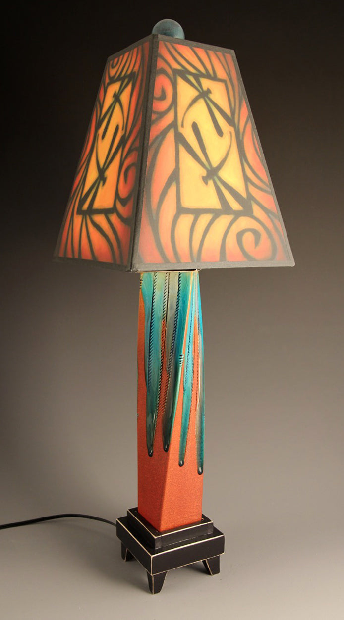 Brown Dragonfly Lamp
