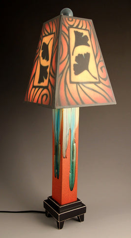 Brown Ginkgo Lamp