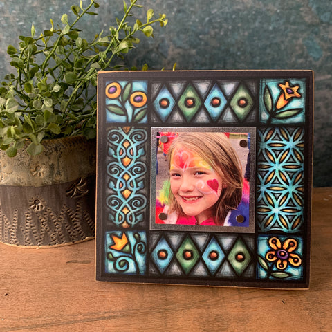 Blue Motif Small Frame