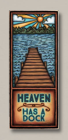 Michael Macone Printed Art - Heaven Has a Dock