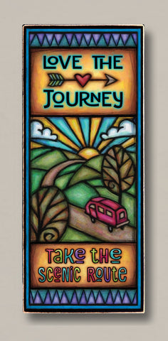 Michael Macone Printed Art - Love the Journey