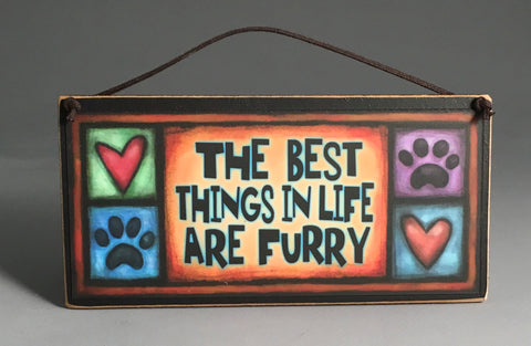 Michael Macone Small Wood Sign - Furry