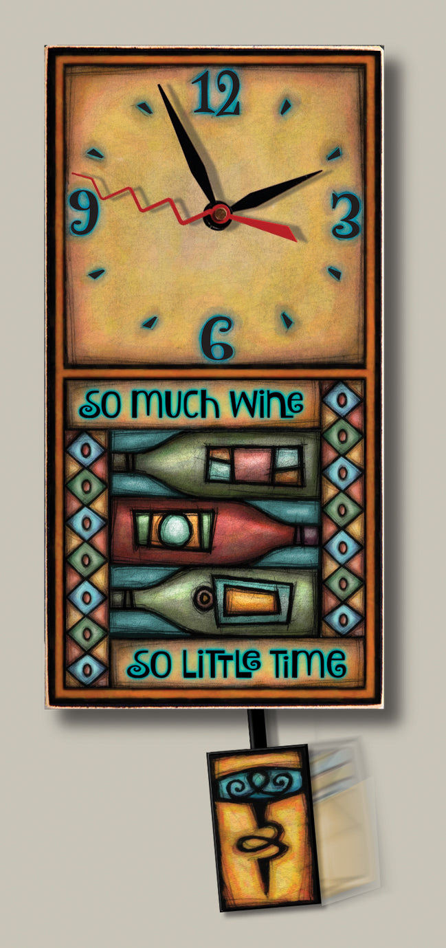 Michael Macone Small Clock - Wine