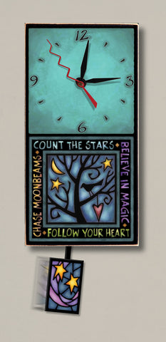 Michael Macone Small Clock - Follow Your Heart