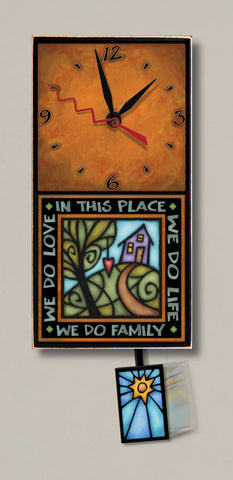 Michael Macone Small Clock - We Do Family