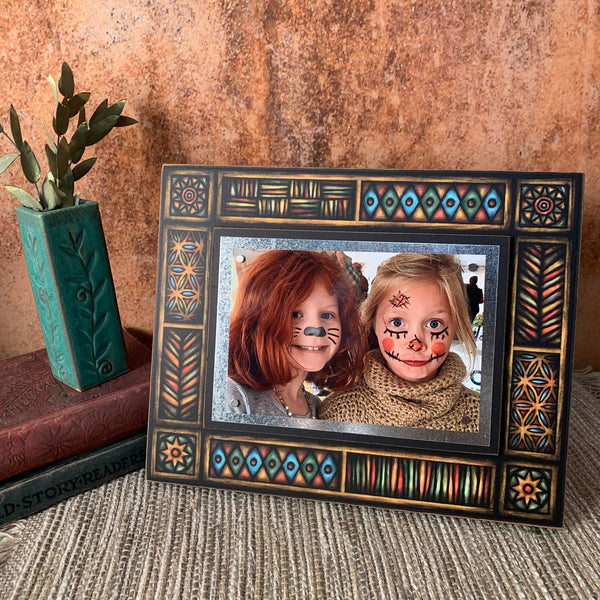 Brown Motif Frame