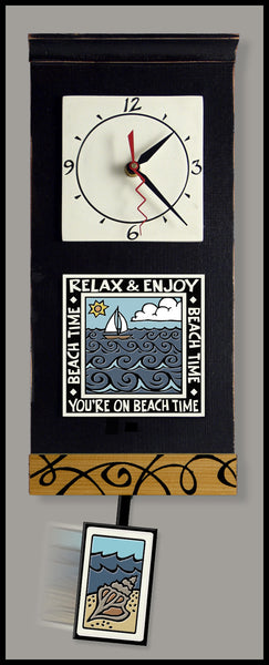 Spooner Creek Clock - Beach Time