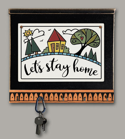 Spooner Creek Key Holder - Let's Stay Home