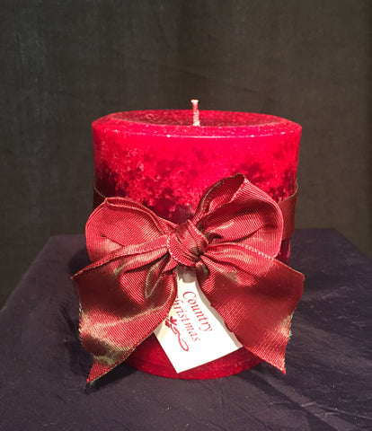 Country Christmas 4x4 Pillar Candle