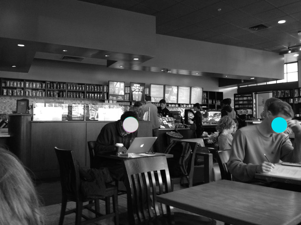 First post - at Starbucks somewhere in California.