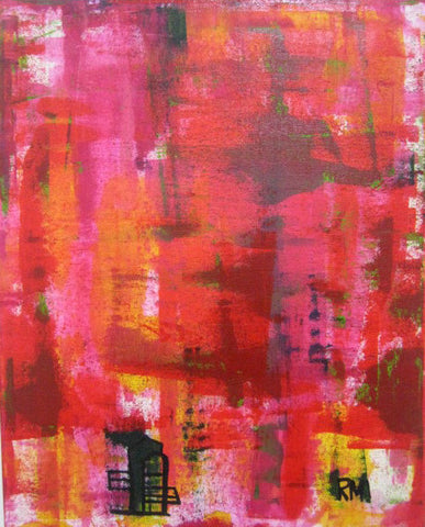 Red Abstract Original Painting (Free shipping worldwide)