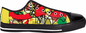 Abstract Colorful RegiaArt Shoes Black Low Top