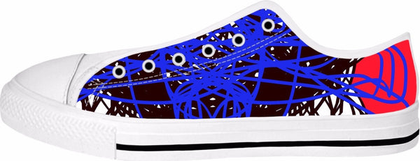 3 Colors Abstract Red Blue RegiaArt Shoes