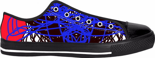 3 Colors Abstract RegiaArt Shoes Red Blue Black Low Top