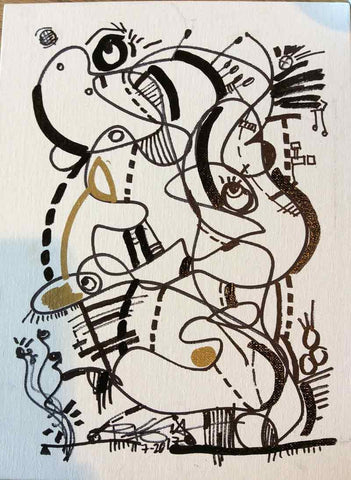 REGIAArt Series ON THE GO #20 Abstract Original Contemporary Modern Art Drawing