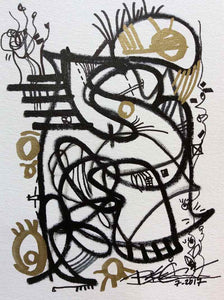 REGIAArt Series ON THE GO #19 Abstract Original Modern Art Drawing