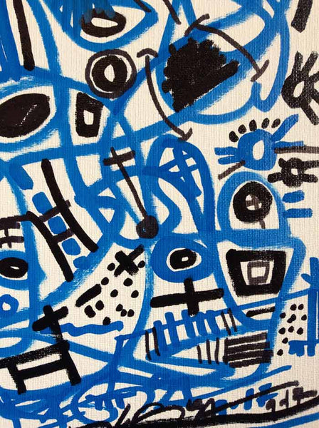 Original Art Contemporary Series - ON THE GO #53 Blue