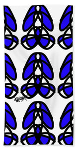 Bold Black And Blue  - Beach Towel