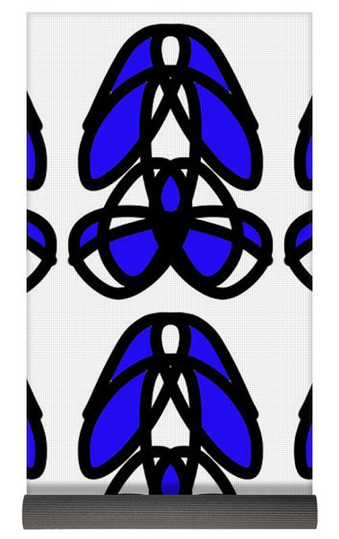 Bold Black And Blue  - Yoga Mat