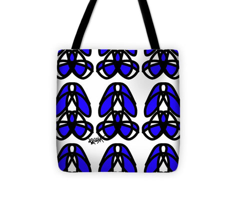 Bold Black And Blue  - Tote Bag