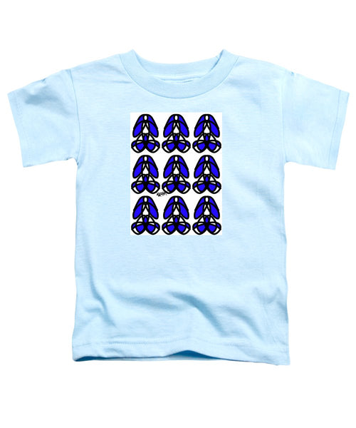 Bold Black And Blue  - Toddler T-Shirt
