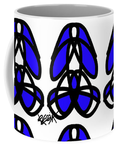 Bold Black And Blue  - Mug
