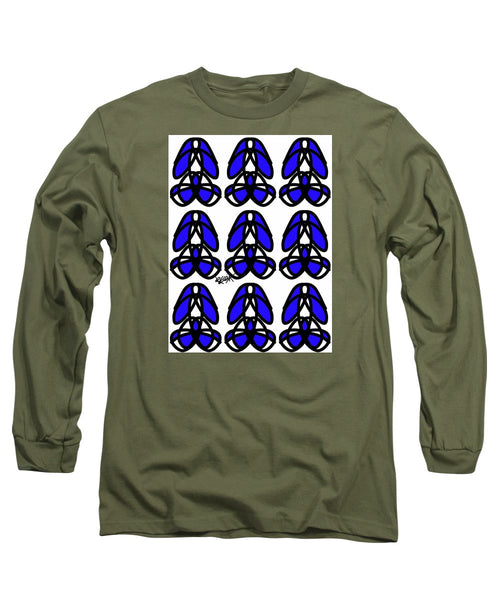 Bold Black And Blue  - Long Sleeve T-Shirt