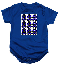 Bold Black And Blue  - Baby Onesie