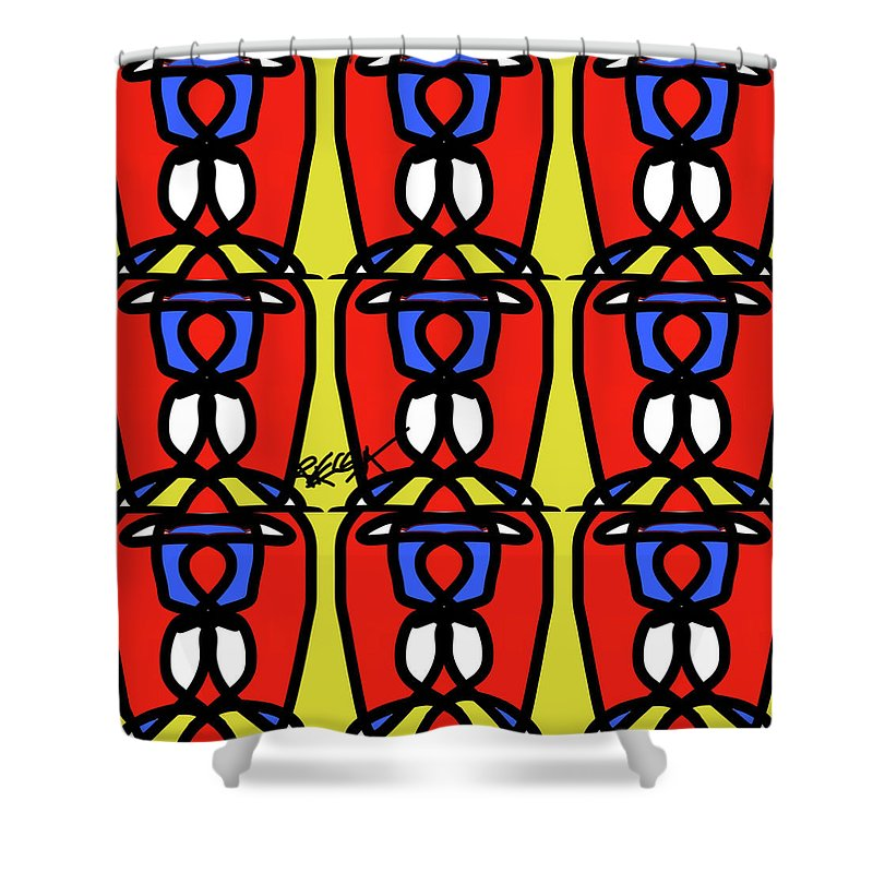 Bright Bold Regiaart - Shower Curtain