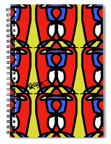 Bright Bold Regiaart - Spiral Notebook