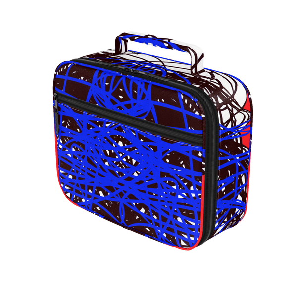 3 COLORS ABSTRACT BLACK BLUE REGIAART LUNCH BOX