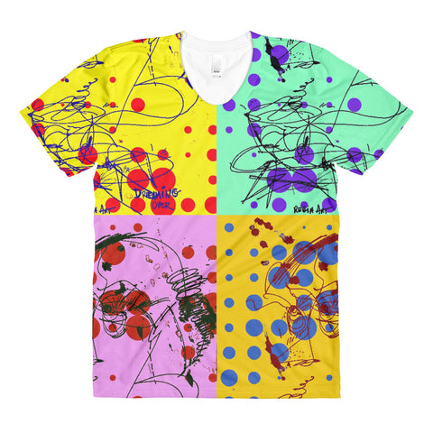 Bubbles 4 Colors Design RegiaArt - Sublimation women's crew neck t-shirt