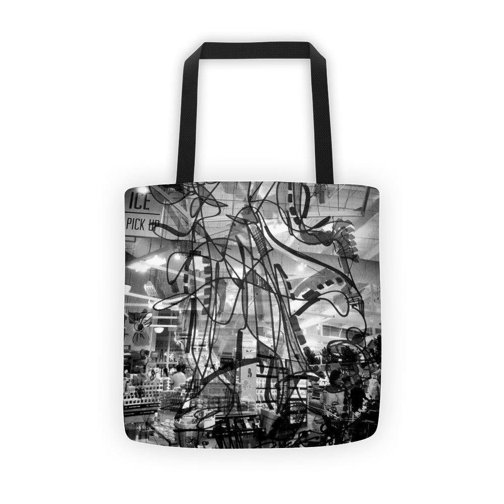 Black Draw Art RegiaArt - Tote bag, all over, polyester weather resistant fabric