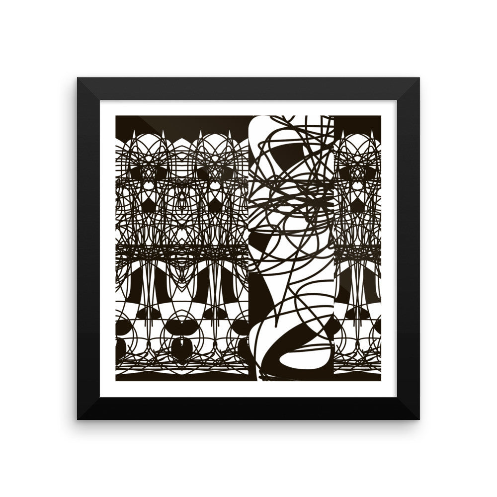 Black Lines Abstract Art RegiaArt - Framed poster paper