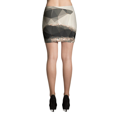 Smile Art Geometric Design RegiaArt - Mini Skirt, jersey