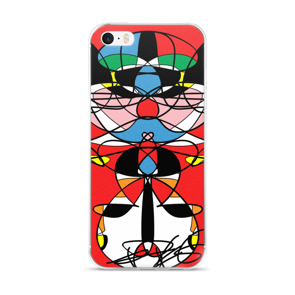 I Love Red RegiaArt - iPhone 5/5s/Se, 6/6s, 6/6s Plus Case