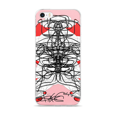 iPhone 5/5s/Se, 6/6s, 6/6s Plus Case - Pink and black by RegiaArt